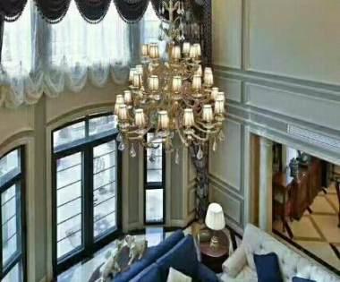 500平米美式风格别墅装修报价与案例(龙发装饰别墅设计)