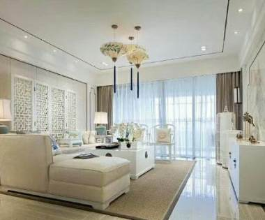260平米新中式风格平墅装修报价与样板间【龙发装饰别墅设计】