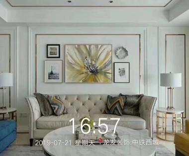 中铁西城装修设计案例|美式风格三居|200平米别墅装修案例|乐天堂娱乐网址别墅设计