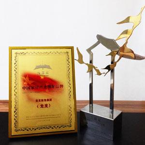"""龙发集团荣获2013年度中国家居产业领军品牌""""大雁奖"""""""